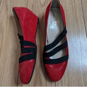🆕 Ron White - Adelle wedge red shoes